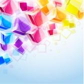 COLORFUL CUBES VECTOR IMAGE.eps