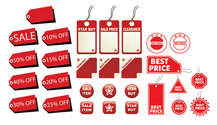 Red Label Vector Graphic Material-2