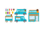 Food Cart And Ice Cream Shop