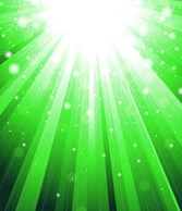 Abstract Green Sunlight Background