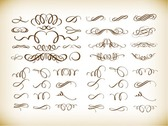 Decorative Calligraphic Elements Vector Graphics Set