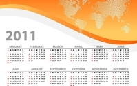 Colorful 2011 Vector Calendars
