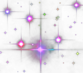 Colorful Flared Stars PSD