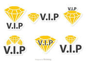 Diamond Vip Icons Vector Pack
