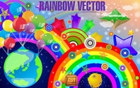 Abstract colorful rainbow