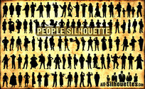 97 People Silhouette