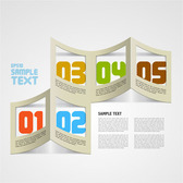 Creative folded hollow paper text template