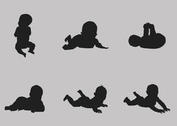 Free Vector Baby Silhouette Set