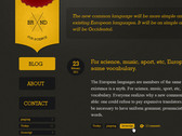 Site template dark and yellow