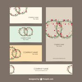 Business identity set floral design