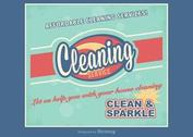 Free Retro Cleaning Service Advertisement