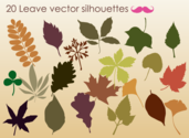 Free Autumn Leaves Silhouettes