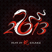 2013 Year of the Snake design vector-3