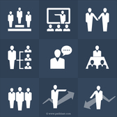 Ressources humaines Icons Set (PSD)
