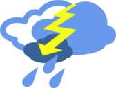 Severe Thunder storms Weather Symbol