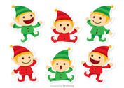 Santas Elves Christmas Vector Pack