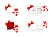Love Stamp - Vector Love Postage Stamps Heart