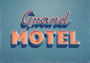 Grand Motel teksteffect