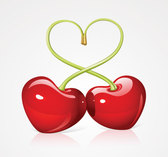 Love: Cherry Shaped as Heart