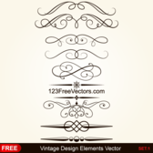 Vintage Calligraphic Decorative Elements