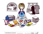 Simple Drawing Female Vector 4 Cd Cd Case Listening To Music