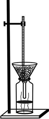 Retort Stand And Thermometer