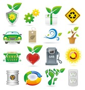 Green Theme Vector Icons