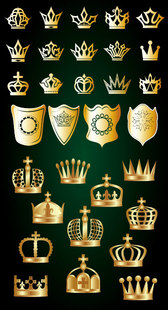 Golden Crown And Shield