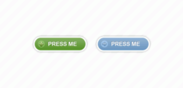 Two rounded buttons (Free PSD)