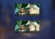 Simple Transparent Video Player Interface PSD
