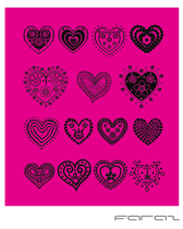 Some different shapes of Hearts