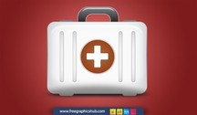 Hard Shell First Aid Medical Kit Vector Icon