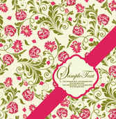 Pattern background Card vector001