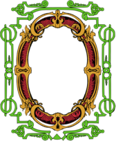 Circle Ornate Frame - Colour Remix