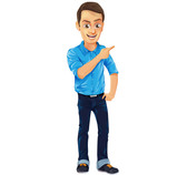 Male Vector Character with Jeans and Blue Shirt