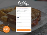 Register Ui (Free PSD Included)