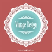 Vintage lace label design
