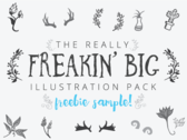 [Freebie] The Freakin' Big Illustration Pack Sample