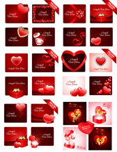 Practical Valentine Element Vector Material -2 Valentine's Day Gifts Heart Love