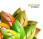 Autumn leaves background vector-7
