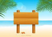 Free Wooden Billboard For Beach