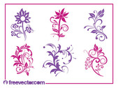 Blooming Flower Pack Silhouettes