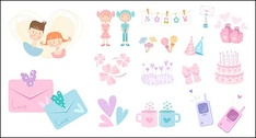 Cute icon vector material goods-3
