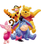 pooh and friends PSD