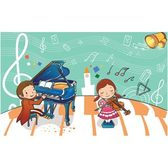 Kids Playing with Violin and Piano