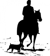 Riding Horse Silhouette