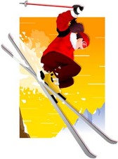 Snow boarding vector 7