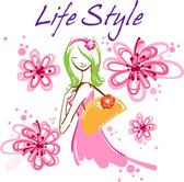 Free vector about vector beautiful handpainted fashion