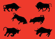 Charging Bull Vector Collection