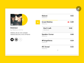 UI challenge - Music Player #009 #Freebies